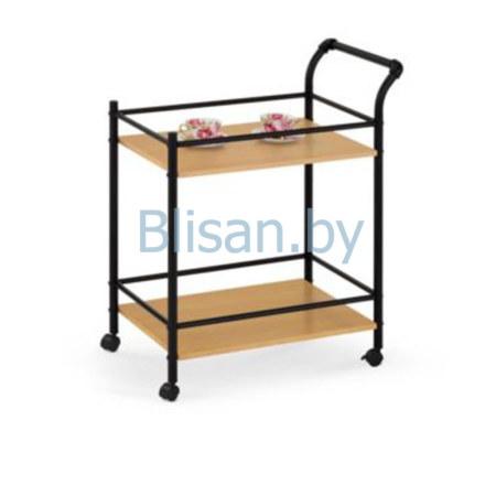 Стол сервировочный Halmar BAR-12 (дуб натуральный/черный)