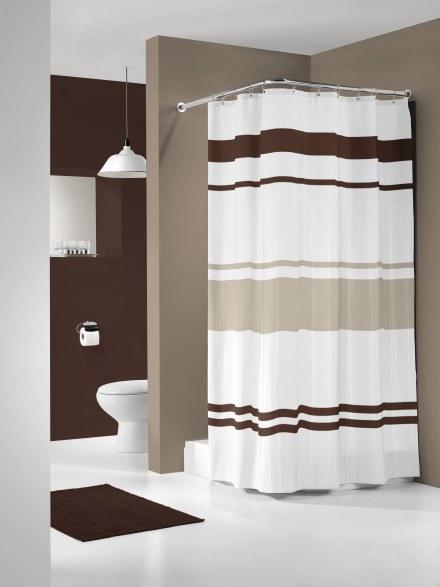 Штора для ванной комнаты 180*200 URBAN КОРИЧНЕВАЯ Нидерланды