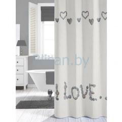 Штора для ванной комнаты 180*200 Quore белая Нидерланды