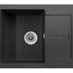 Мойка гранитная для кухни KAISER 620x500x220 Black Pearl, KGMK-6250-BP
