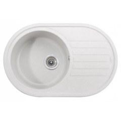 Мойка гранитная для кухни KAISER 780x500x220 White овальная, KGM-7750-W