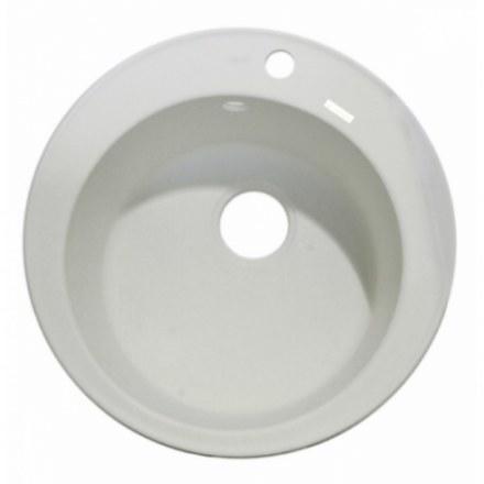 Мойка-Мраморная Kaiser круглая Ф510 KMM-510 White