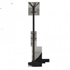 Вешалка Sheffilton Офис 1-1P (черный/серый)