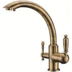 Смеситель для кухни под фильтр Kaiser Vincent 31244-3 Bronze