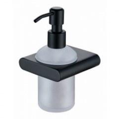 Дозатор для жидкого мыла настенный (стекло) Kaiser KH-2730 Black