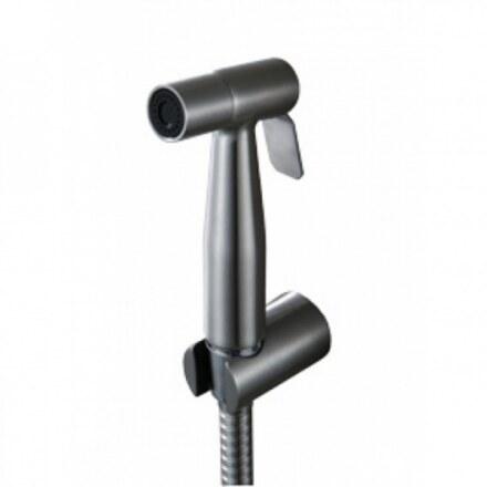 Гигиенический набор Kaiser SH-348 Silver, металлический с клапаном (Лейка + шланг)