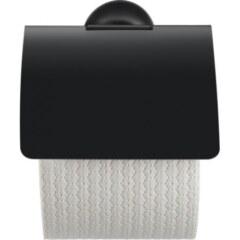 Держатель для туалетной бумаги с крышкой Черный матовый Duravit Starck T 0099404600