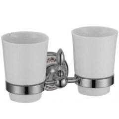 Держатель для двух стаканов Savol S-06868A хром