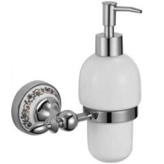 Дозатор для жидкого мыла с настенным держателем Savol S-06831A хром