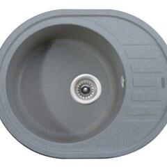 Мойка гранитная для кухни KAISER 620x500x220 Grey овальная, KGMO-6250-G