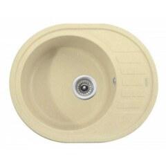 Мойка гранитная для кухни KAISER 620x500x220 Jasmine овальная, KGMO-6250-J