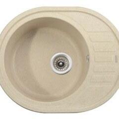 Мойка гранитная для кухни KAISER 620x500x220 Sand Beige овальная, KGMO-6250-SB
