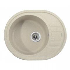 Мойка гранитная для кухни KAISER 620x500x220 Sand овальная, KGMO-6250-S