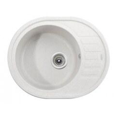 Мойка гранитная для кухни KAISER 620x500x220 White овальная, KGMO-6250-W