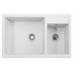 Мойка гранитная для кухни KAISER 800x500x190 White двойная, KG2M-8050-W