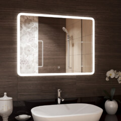 Зеркало 915 х 685 мм , сенсорное , с внутренней LED подсветкой 10045216