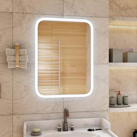 Зеркало 600 х 800 мм , сенсорное , с внутренней LED подсветкой 10045226